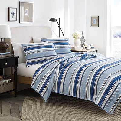 Stone Cottage Fresno Blue Quilt Set