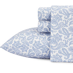 Laura Ashley Fulham Paisley Flannel Sheet Set