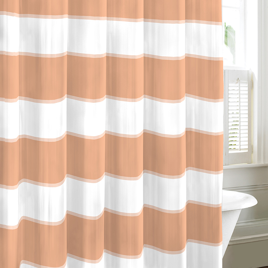 Nautica Guardhouse Stripe Crab Claw Shower Curtain From
