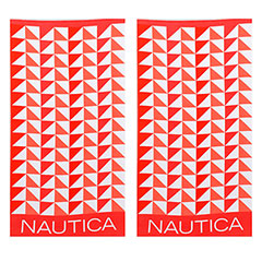 Nautica Geo Triangles Coral 2-Piece Beach Towel Set