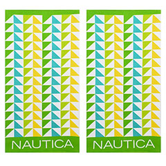 Nautica Geo Triangles Lime 2-Piece Beach Towel Set