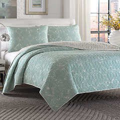 City Scene Giani Teal Quilt Set