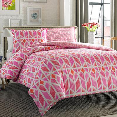 City Scene Grayson Multi Pink Comforter And Duvet Set From
