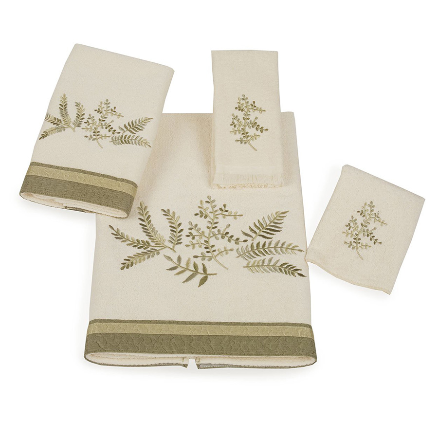 Avanti greenwood decorative towels from for Decorative bath towels