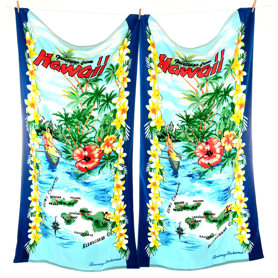 Tommy Bahama Bathroom Towels: Tommy Bahama Greetings From Hawaii Beach Towel Sets From