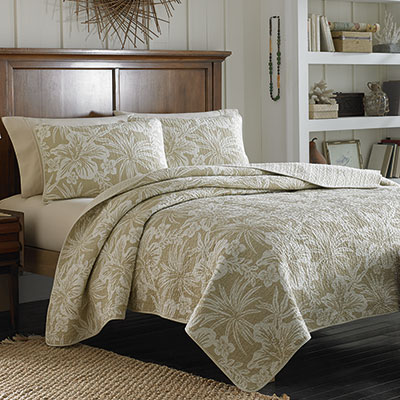 Tommy Bahama Hanalie Hibiscus Neutral Quilt