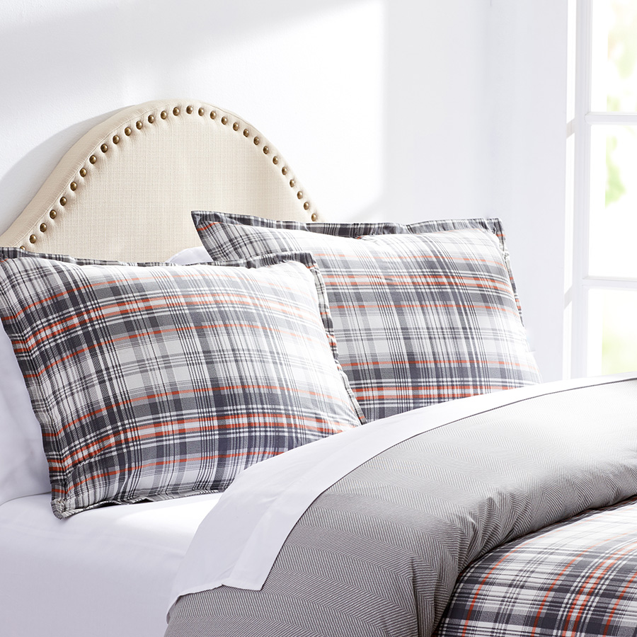 King Duvet Set City Scene Lanbury Plaid