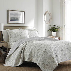 Laura Ashley Harmony Coast Cloud Quilt Set