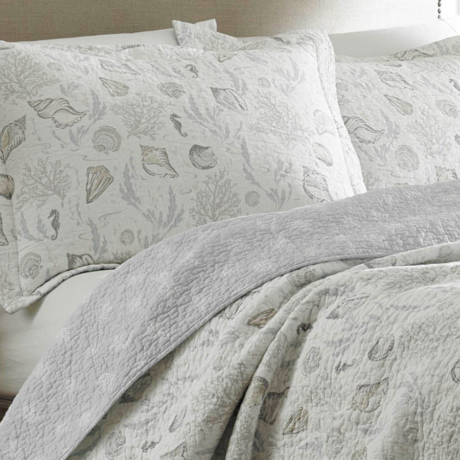 laura ashley harmony coast cloud quilt set from. Black Bedroom Furniture Sets. Home Design Ideas