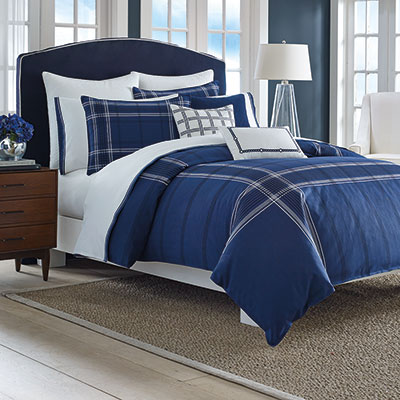 Nautica Haverdale Navy Comforter And Duvet Sets From