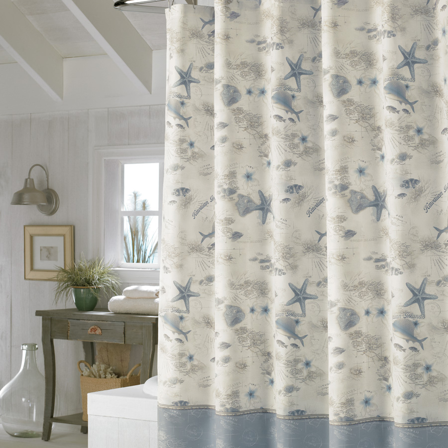 Tommy Bahama Hawaiian Islands Shower Curtain from Beddingstyle.