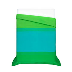 Hennika Green Duvet Cover