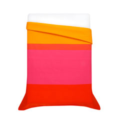 Hennika Orange Duvet Cover