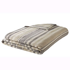 Eddie Bauer Herringbone Saddle Stripe Blanket