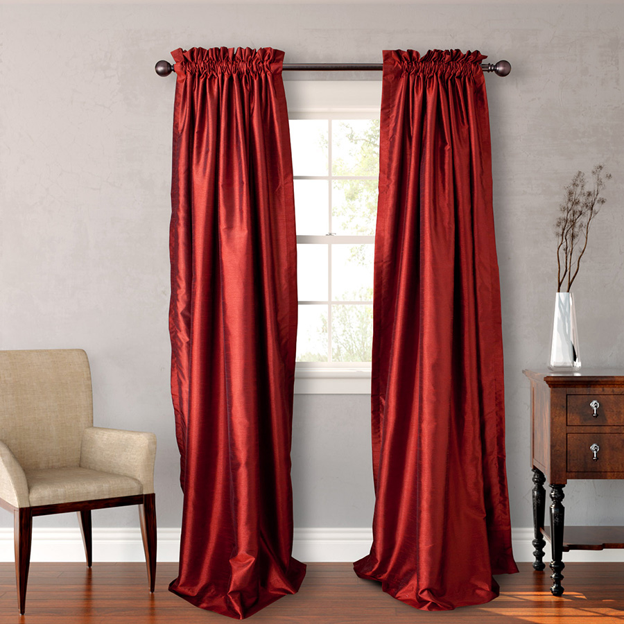Pair of Drapes 54 x 108 Heritage Landing Paprika