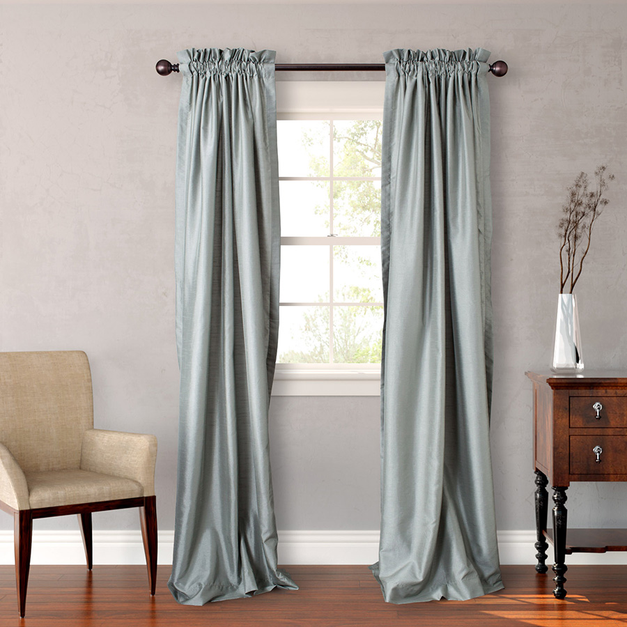 Pair of Drapes 54 x 63 Heritage Landing Solid Soft Sage