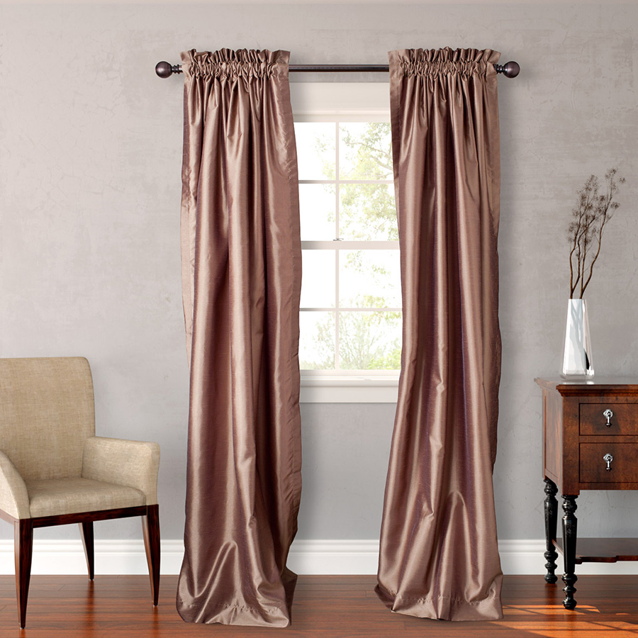 Pair of Drapes 54 x 84 Heritage Landing Solid Taupe