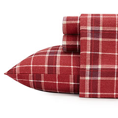 Laura Ashley Highland Check Flannel Sheet Set