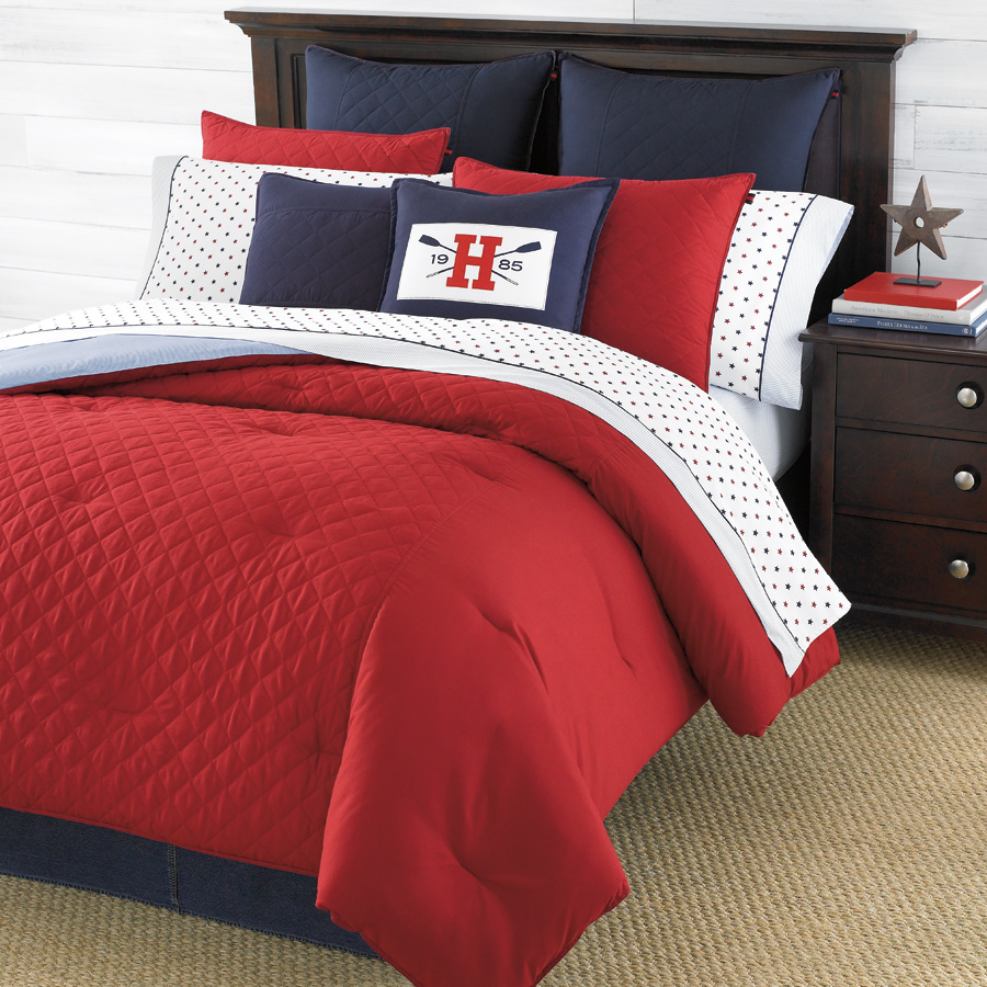 tommy hilfiger hilfiger prep red bedding collection from