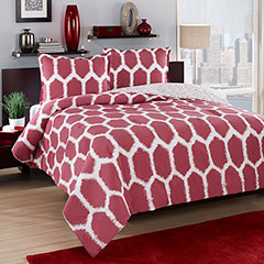 City Loft Honeycomb Reversible Comforter & Duvet Set