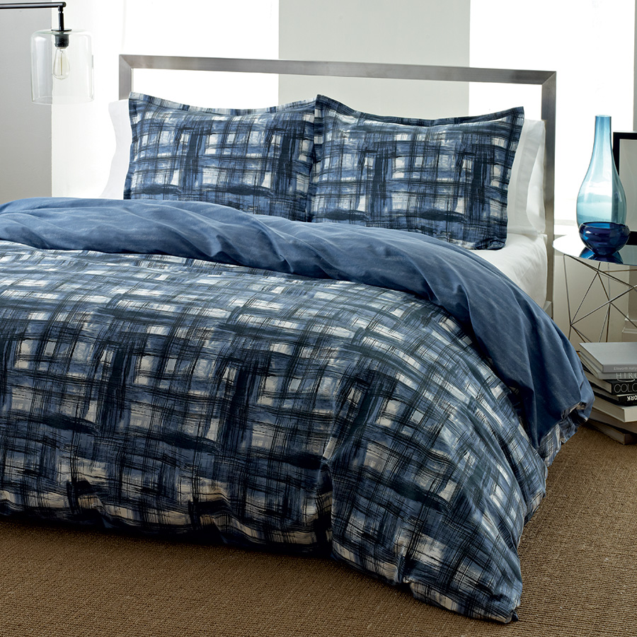 King Duvet Set City Scene <span class= by REVMAN >by REVMAN< span> Ink Wash