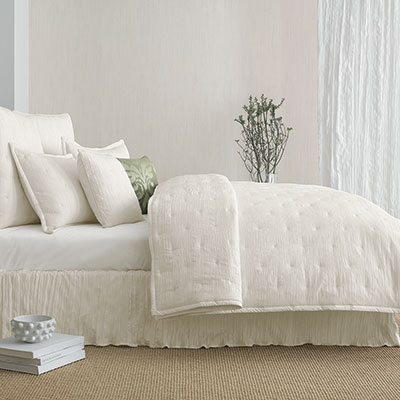 Candice Olson In The Groove Ivory Coverlet