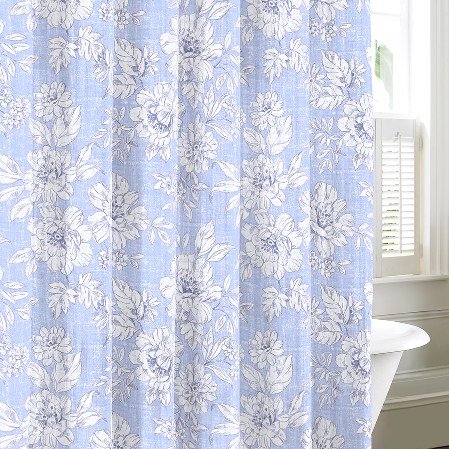 Hookless Extra Wide Shower Curtain Croscill Shower Curtains