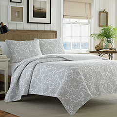 Tommy Bahama Island Memory Pelican Grey Quilt Set