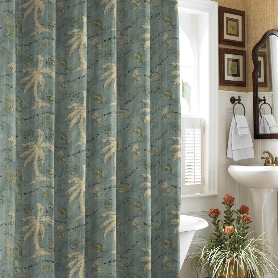 Sinatra silver shower curtain - Shower Curtain Tommy Bahama Island Song Image