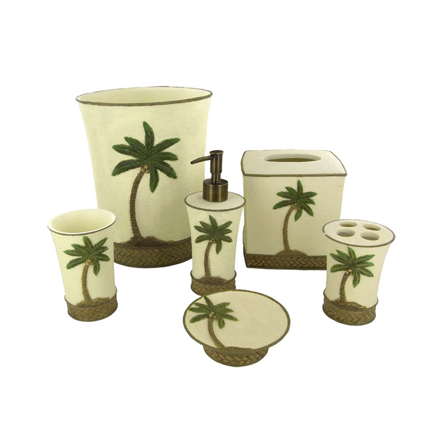 Palm Bathroom Decor Tree Bedding Sets