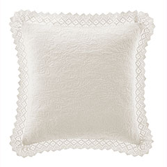 Laura Ashley Ivory Crochet Decorative Pillow