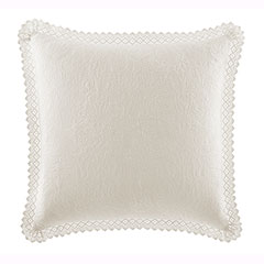 Laura Ashley Ivory Crochet Euro Sham