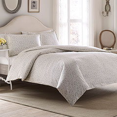 Laura Ashley Jayden Gray Flannel Duvet Set