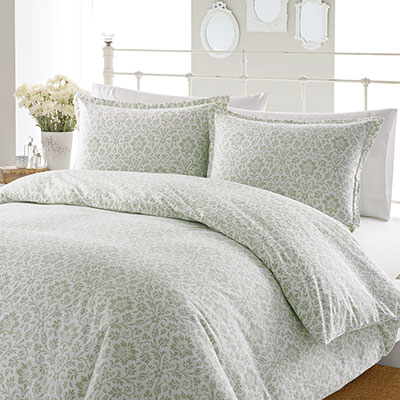 Laura Ashley Jayden Flannel Duvet Set