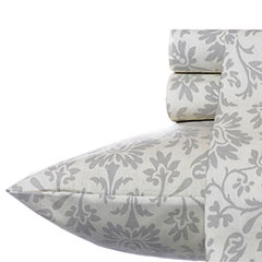 Laura Ashley Jayden Gray Flannel Sheet Set