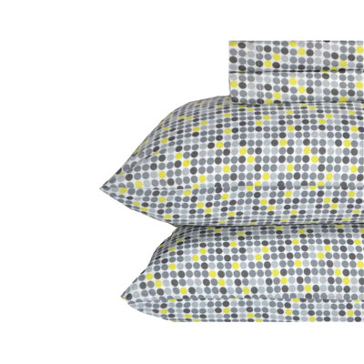 Perry Ellis Jordan Dot Lemon Sheet Set