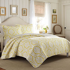 Laura Ashley Julia Lemon Quilt Set
