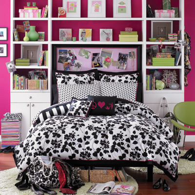 Black  White Bedding on Black And White Floral Bedding