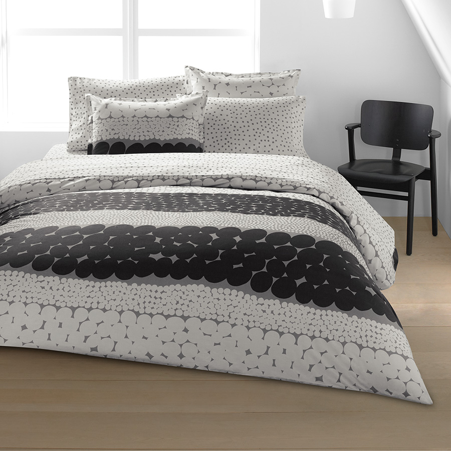 King Duvet Set Marimekko Jurmo Dark Shadow