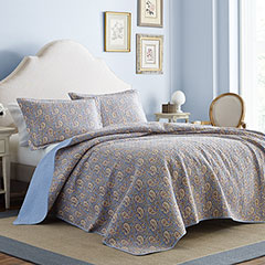 Laura Ashley Katrina Paisley Quilt Set