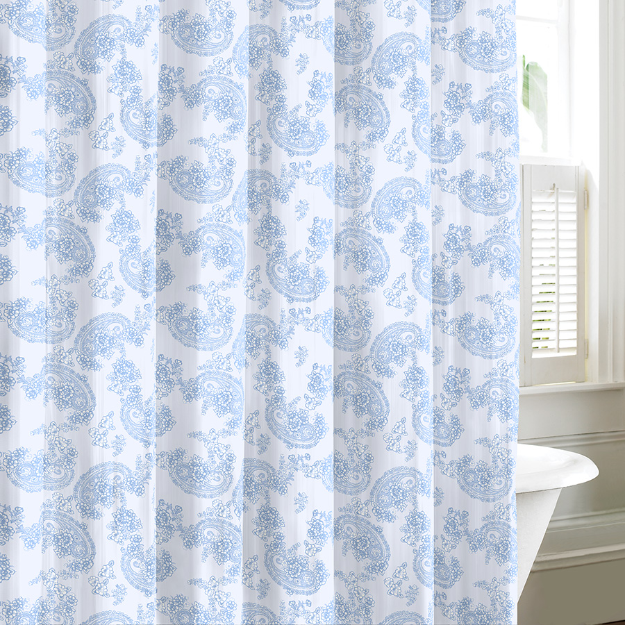 Kingsley sky shower curtain from beddingstyle com