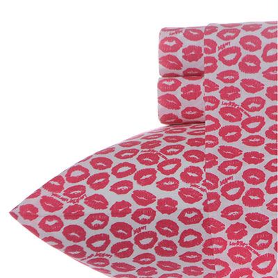 Betsey Johnson Kiss and Tell Sheet Set