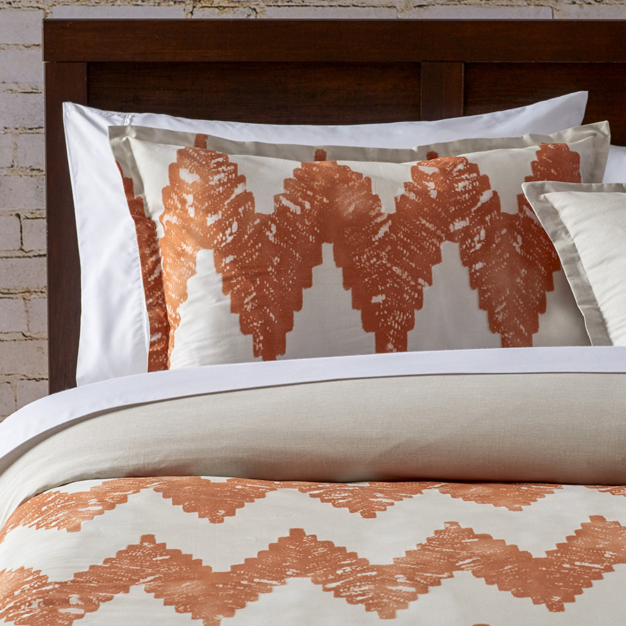 City Scene Kuro Copper Comforter And Duvet Set From