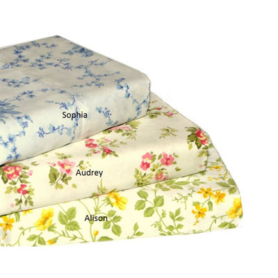 Laura Ashley 300 Thread Count Printed Sheet Sets