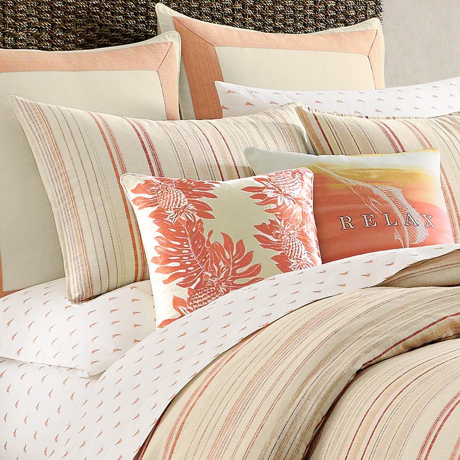 Tommy Bahama La Scala Breezer Papaya Comforter And Duvet