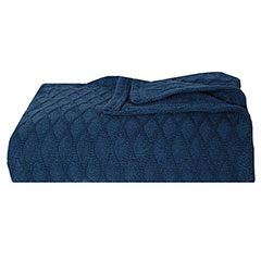Eddie Bauer Lattice Dusted Indigo Blanket