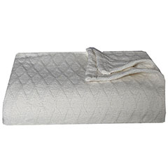 Eddie Bauer Lattice Ivory Blanket