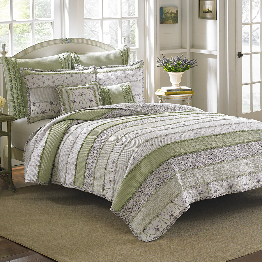 Bedroom Linen Sets: Laura Ashley Lavinia Quilt Set From Beddingstyle.com
