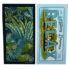Tommy Bahama Leaves & Relaxed State Beach Towel Set