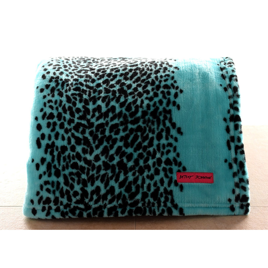 Betsey Johnson Leopard Throw Blanket From